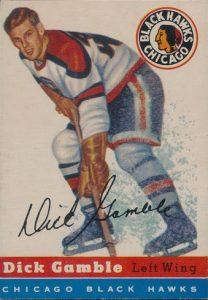 Dick Gamble 1954-55 Topps Hockey
