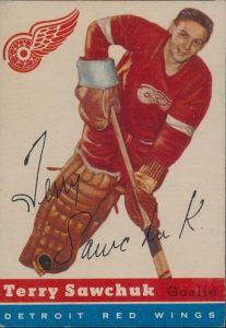 Terry Sawchuk 1954-55 Topps