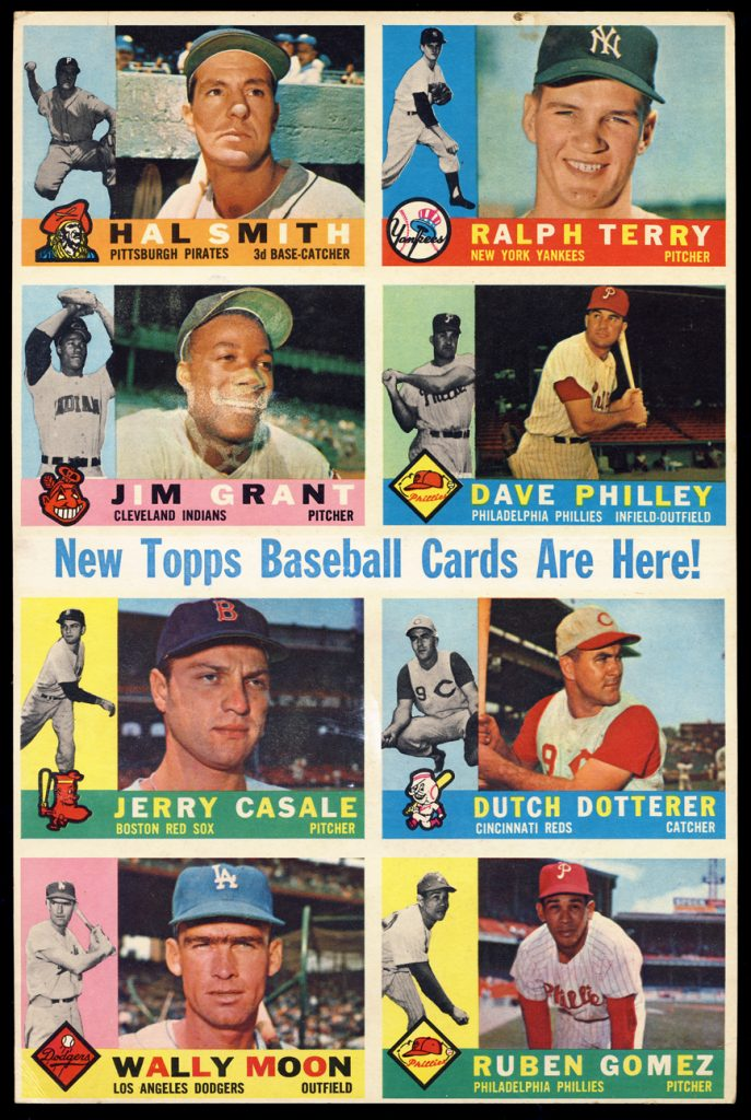 Topps promo sheet 1960 baseball set