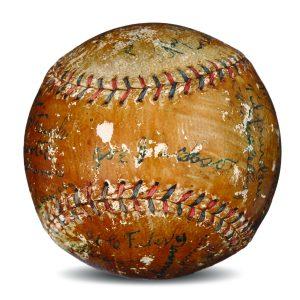 Black Sox autographed baseball 1920