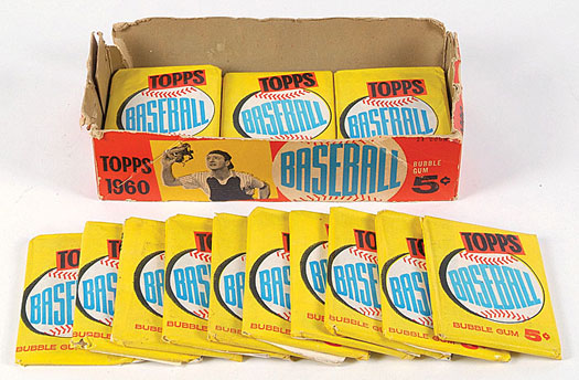 1960 Topps wax box-packs