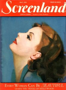 1928 Screenland magazine with Greta Garbo cover