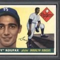 Sandy Koufax 1955 Topps rookie card