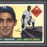 Sandy Koufax 1955 Topps rookie card