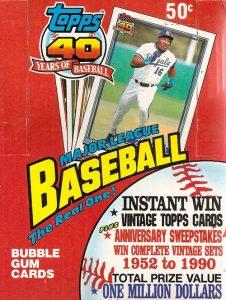 Topps 1991 wax box
