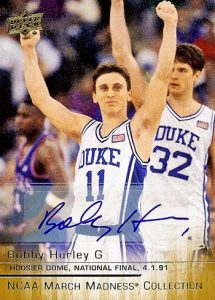 Upper Deck March Madness Bobby Hurley autograph