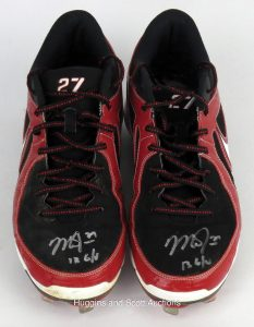 Game-worn cleats Mike Trout