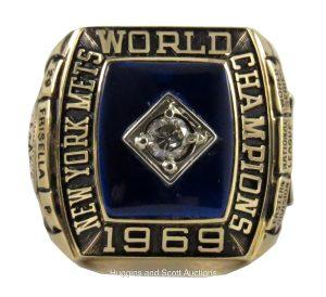 Danny Frisella Mets 1969 World Series ring