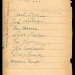 1944 Negro League autographs