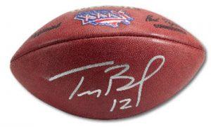 Game-used Tom Brady autographed football