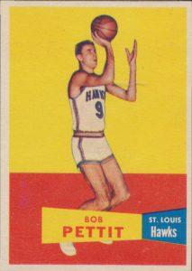 Bob Pettit 1957-58 Topps rookie card