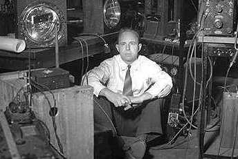 Harold Edgerton in his M.I.T. studio