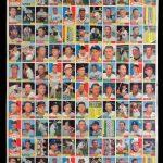 Uncut sheet 1961 Topps baseball