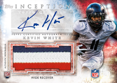 2015 Topps Inception Football auto relic Kevin White