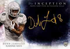Duke Johnson 2015 Topps Inception Gold Signings parallel
