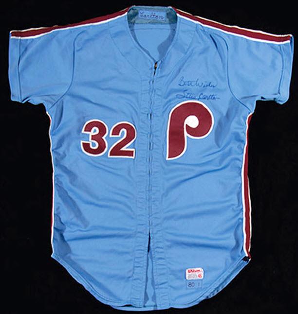 Steve Carlton 1970s Phillies jersey