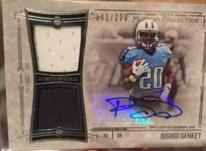 2014 Topps Museum Football Bishop Sankey auto relic