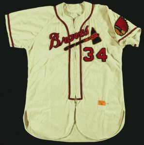 Bobby Thomson Braves jersey 1955