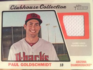 2015 Topps Heritage Clubhouse Collection Paul Goldschmidt