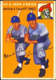 1954 Topps O'Brien twins