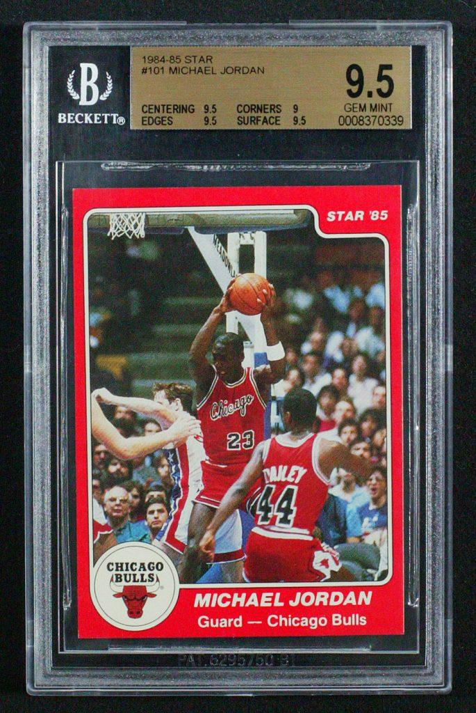 Michael Jordan Star Company Rookie Card 9.5
