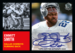 Emmitt Smith autographed 20-15 Topps 1962 style