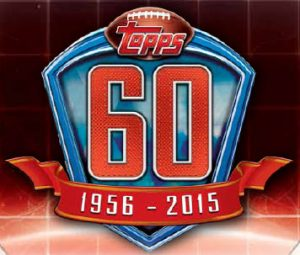 Topps 60th anniversary football logo