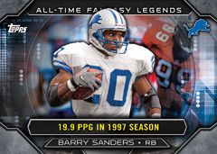 2015 Topps Barry Sanders All-time Fantasy