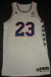 LeBron James 2015 All-Star Game worn jersey
