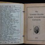 US Card Collectors Catalog Jeff Burdick