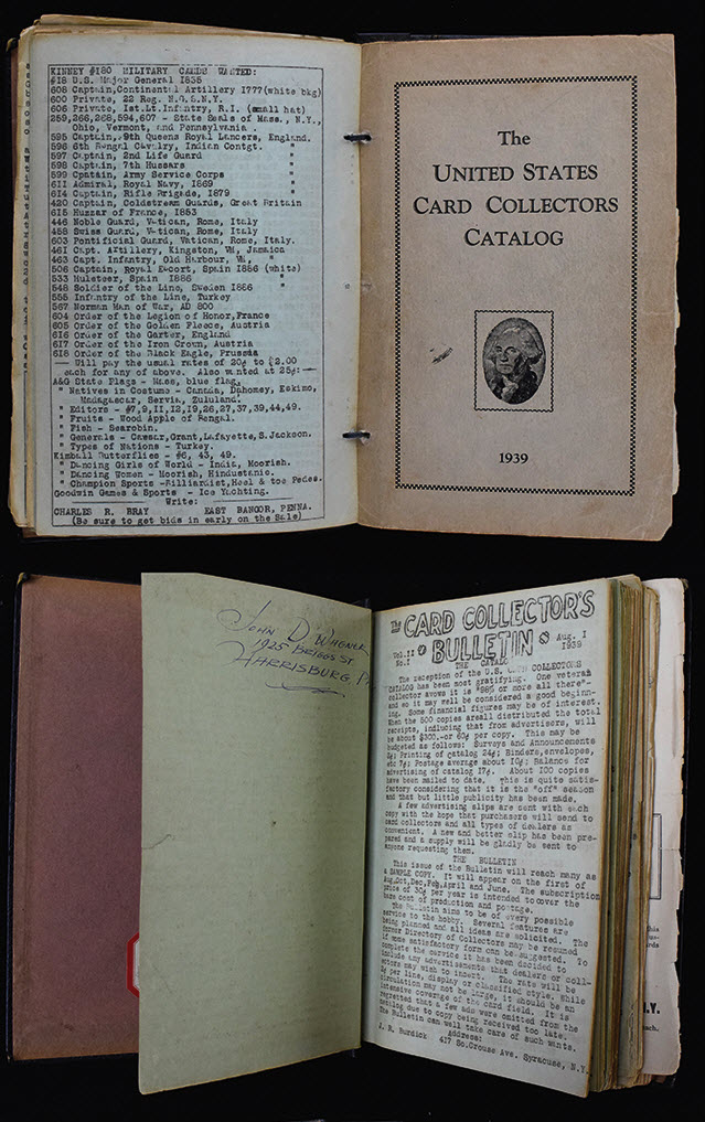 Card Collectors Bulletin-Catalog Jefferson Burdick