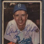 Andy Pafko 1952 Topps autographed