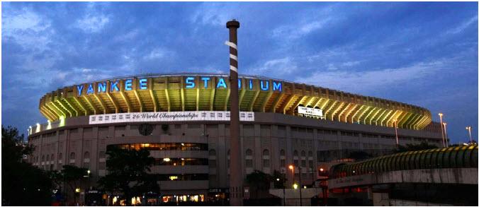 Yankee Stadium night exterior