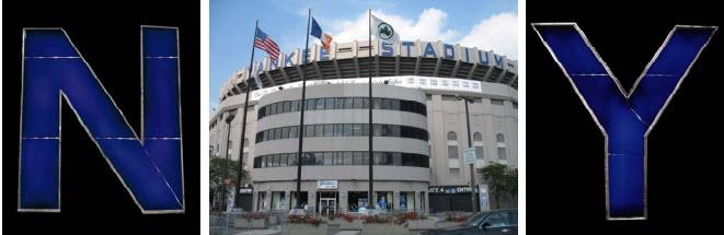 Yankee Stadium lettering