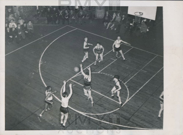 Basketball 3-point line 1945