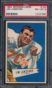 Bowman Large 1952 Jim Lansford PSA 8