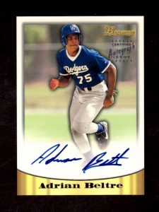 Adrian Beltre 1998 Bowman certified autograph