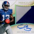Odell Beckham auto 2014 Immaculate Football