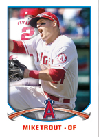 Mike Trout 2015 Topps Sticker