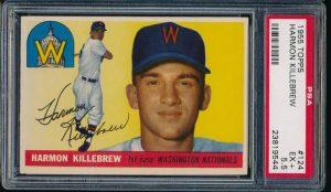 Harmon Killebrew rookie card 1955 Topps