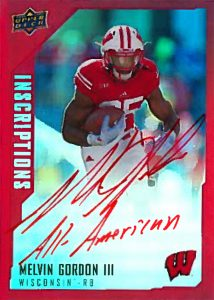 Red parallel 2015 Upper Deck Inscriptions auto