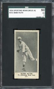 Babe Ruth M101-4 PSA 5