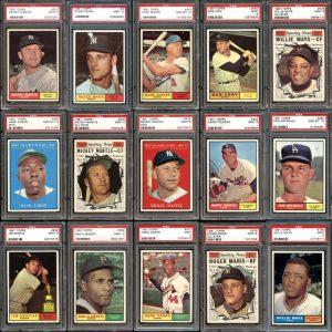 Topps 1961 graded baseball set