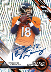 Peyton Manning 2015 Topps High Tek auto