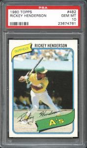 Rickey Henderson PSA 10 rookie card