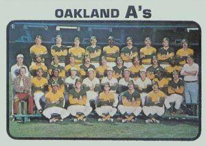 1973 topps oakland as