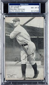 Lou Gehrig 1925 Exhibit auto