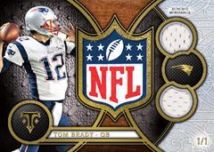 Tom Brady 2015 Topps Triple Threads NFL Shield