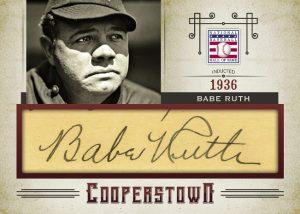 2015 Panini Cut Signatures Babe Ruth