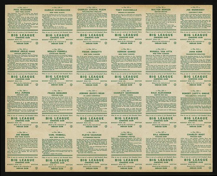 Goudey-1933-sheet-back